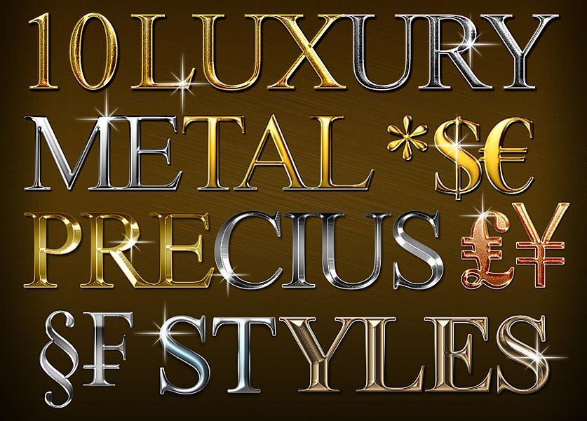 Gold Style Photoshop Font