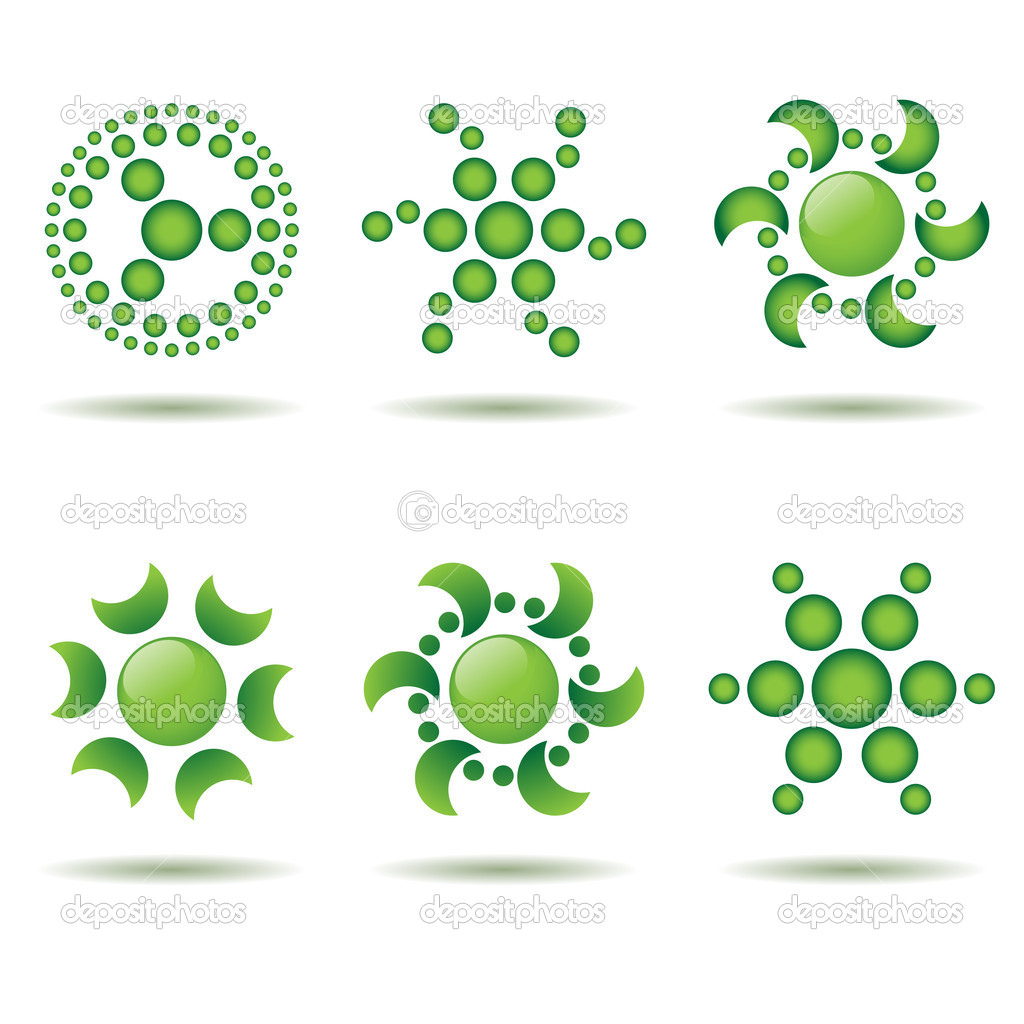 9 Green Vector Design Elements Images