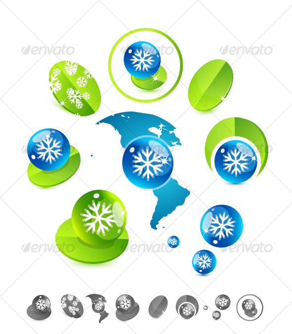 Green Vector Design Element