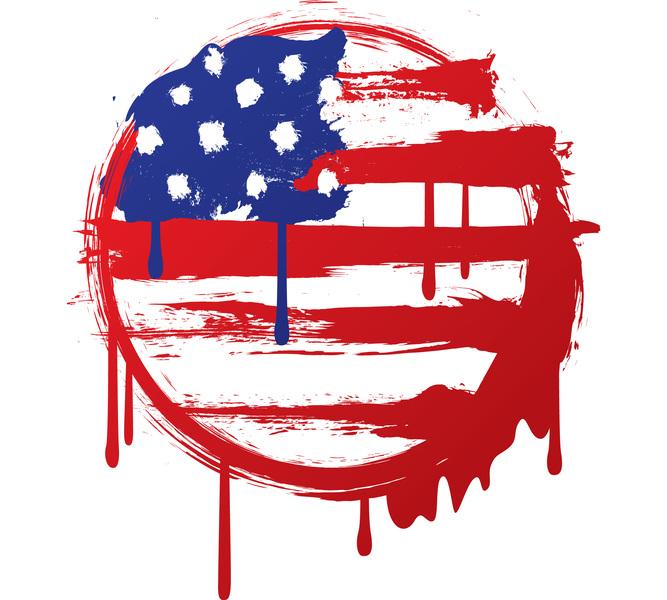 Grunge American Flag Vector