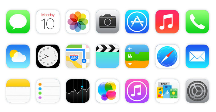 14 IOS 7 IPad App Icons Images