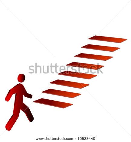 Man Climbing Stairs Clip Art
