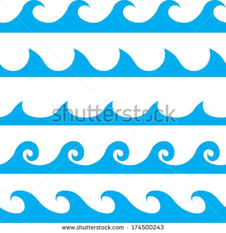 Ocean Wave Line Vector