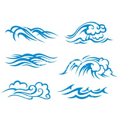 18 Ocean Waves Vector Art Images