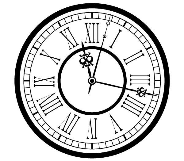 8 Vintage Clock Vector 9 15 Images