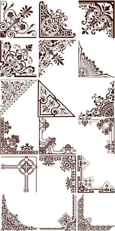 Ornaments Vector Borders Corners