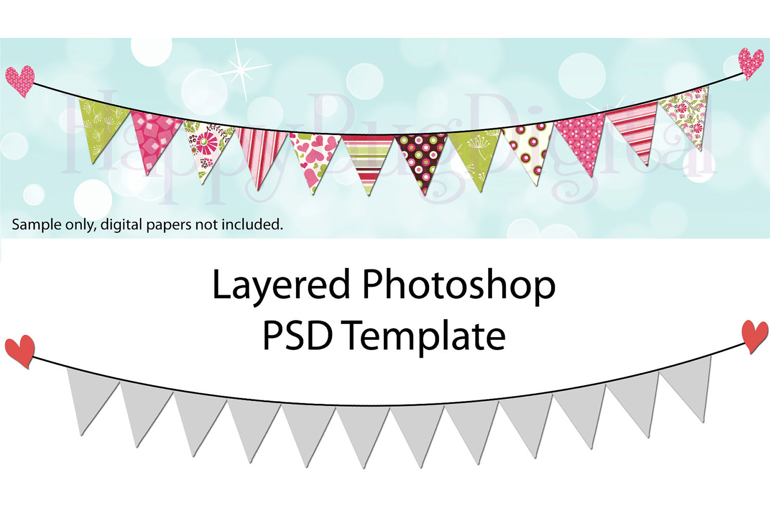 Photoshop Free Pennant Banners Templates