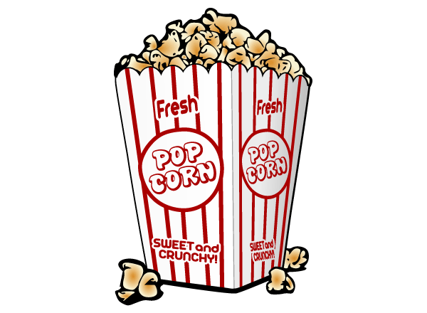 12 Popcorn Vector Graphics Images