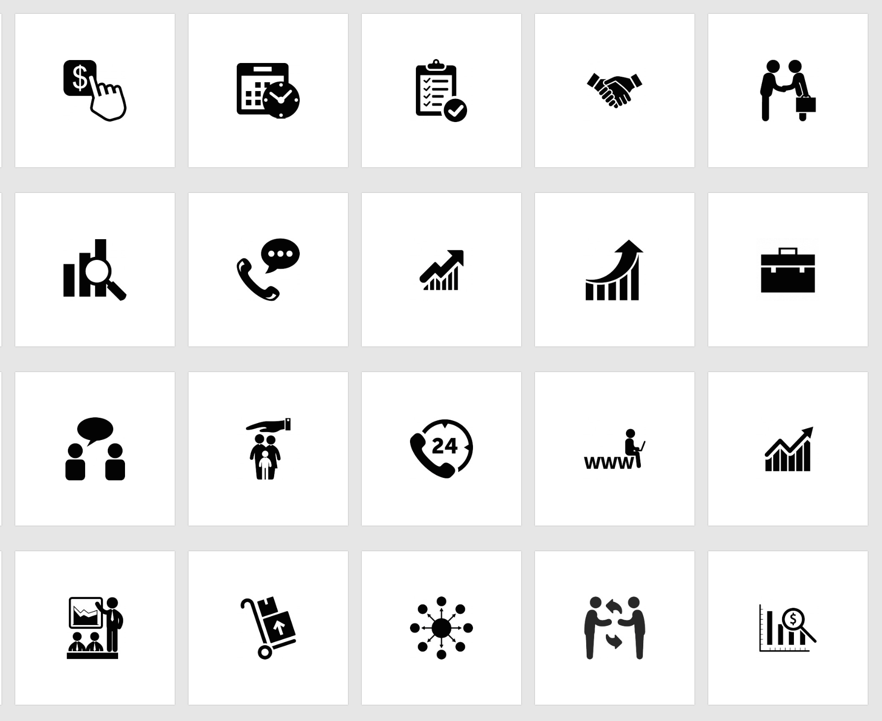 PowerPoint Business Icons Vector Free