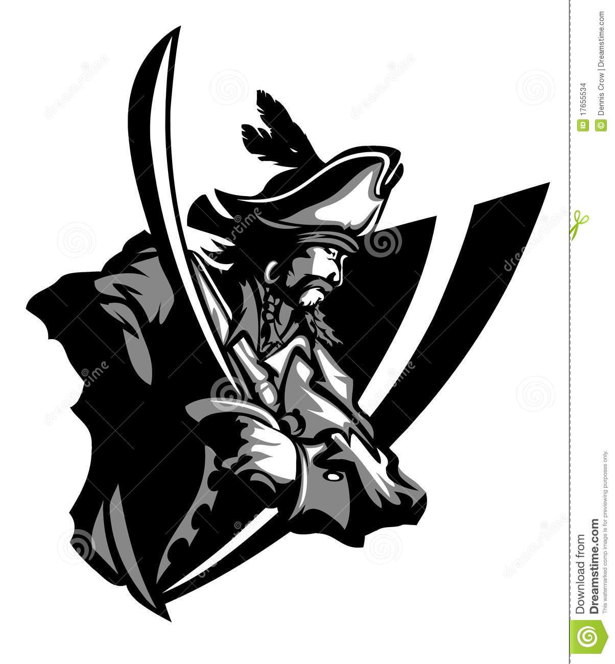 Raider Pirate Logo Mascot