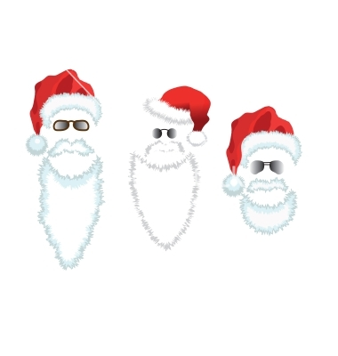 9 Santa Beard Vector Images