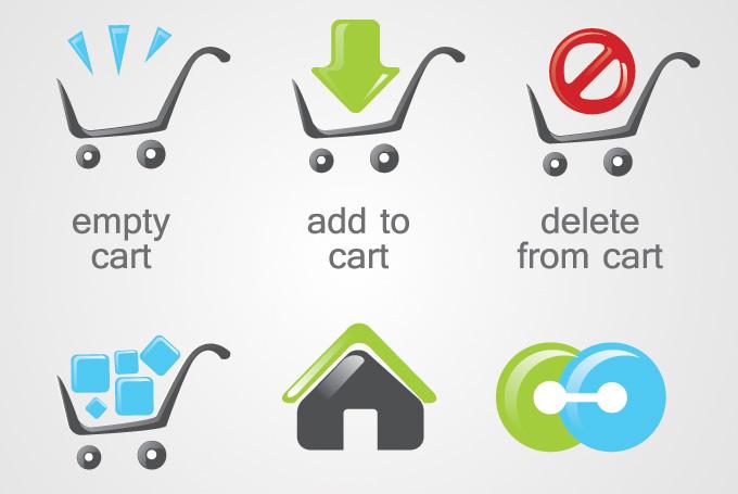 Shopping Cart Icon Vector Free