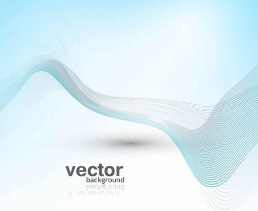 Simple Wave Abstract Vector