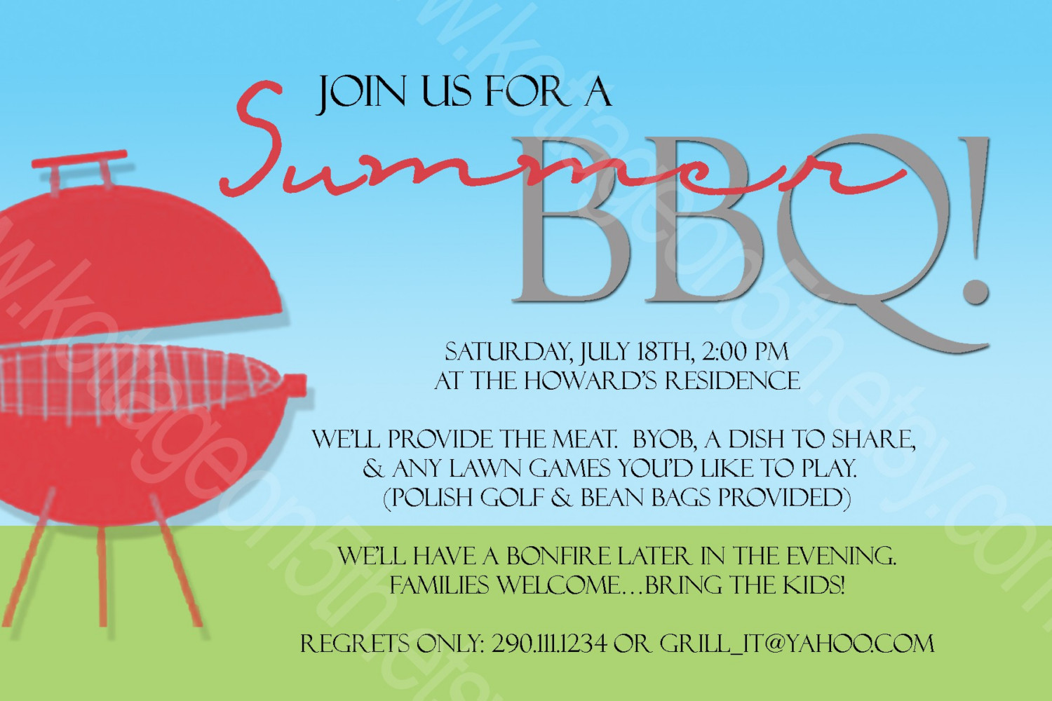 17 Summer BBQ Invitation Word Template Images - Free ...
