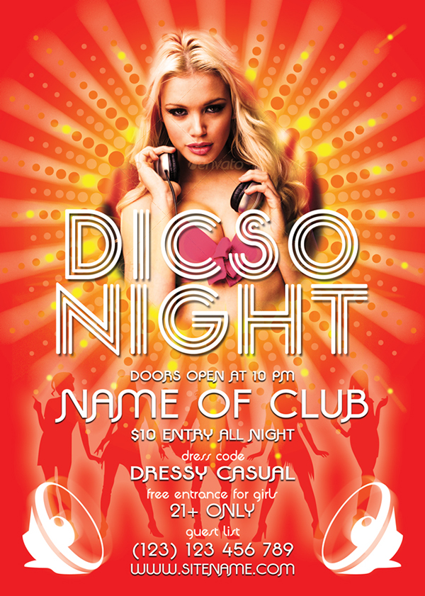 This Disco Night Flyer Template