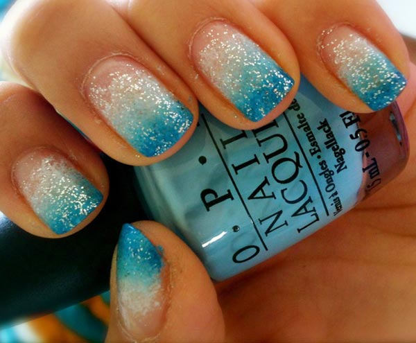 Turquoise Nails with Designs