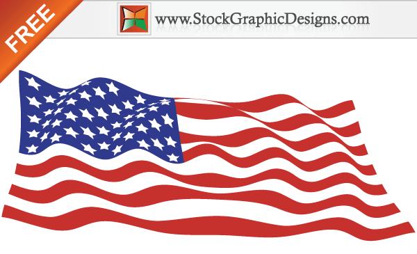 USA Flag Vector Art Free