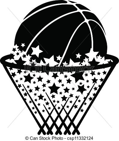 Vector Basketball Net Clip Art