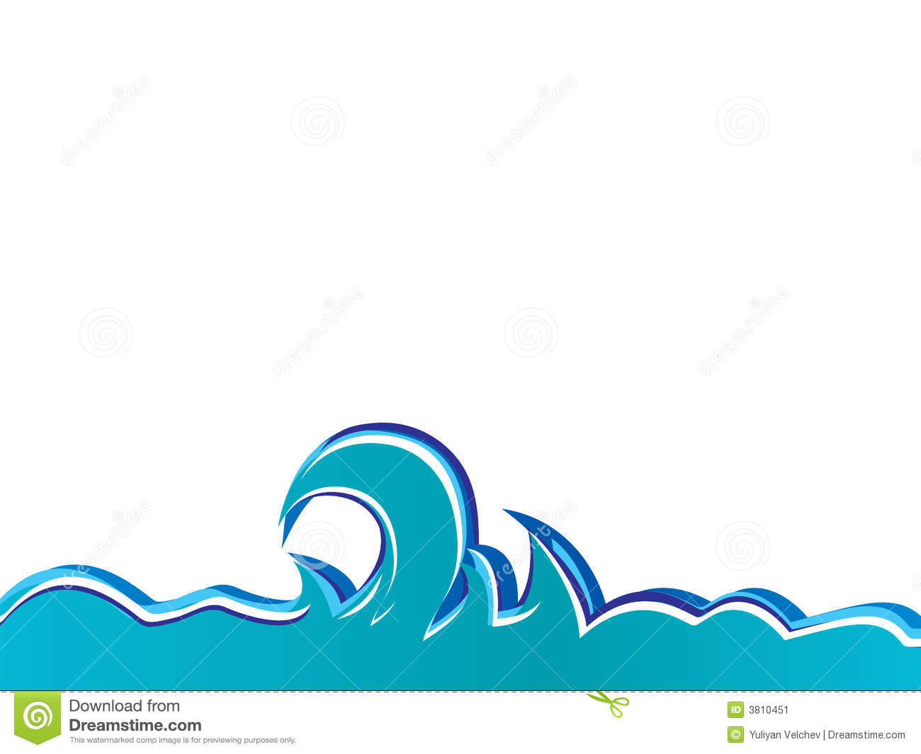Vector Graphics Ocean Waves