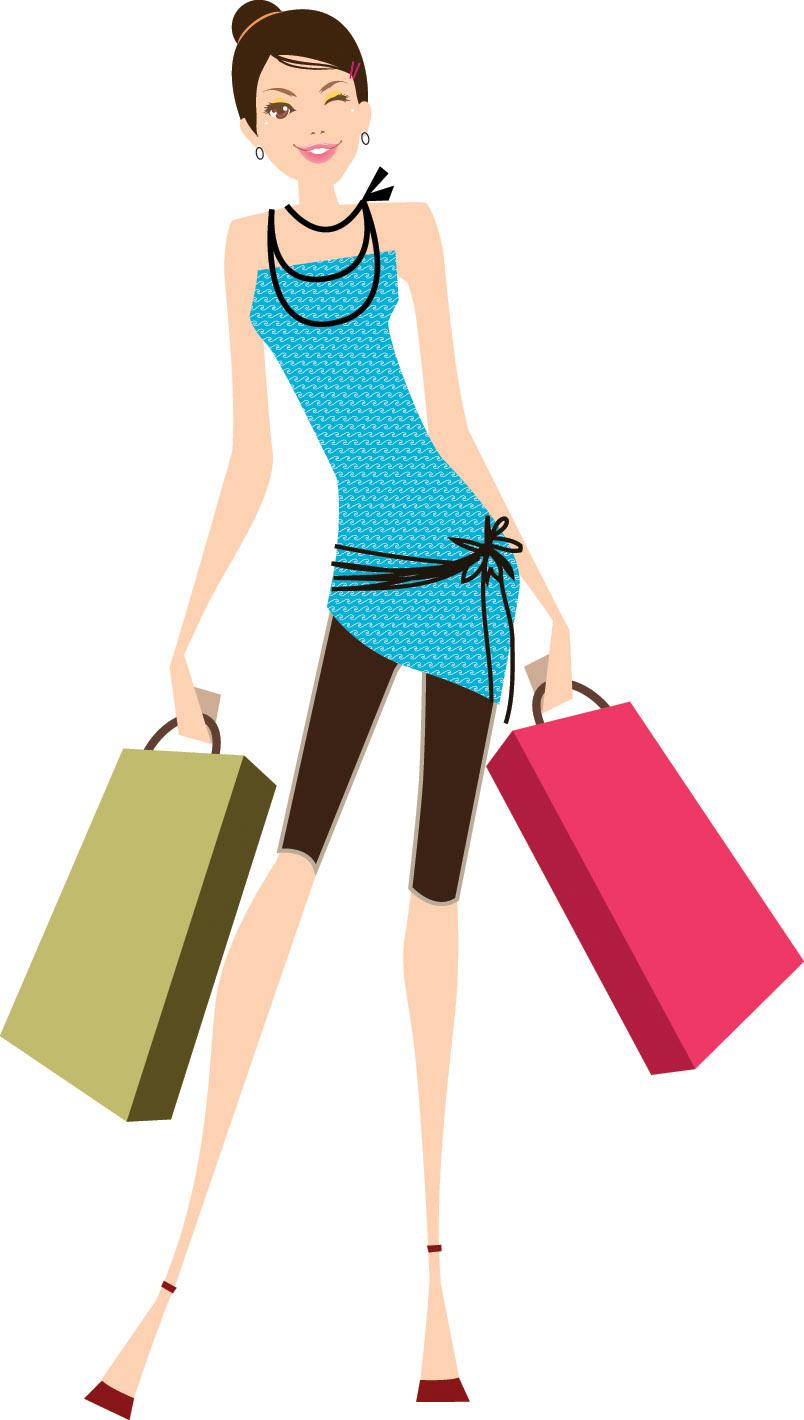 Vector Shopping Women Fashion