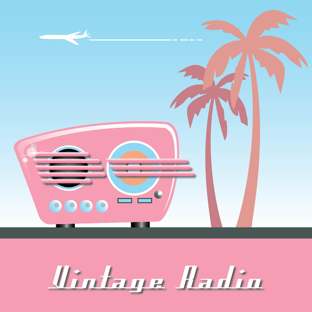 6 Old Radio Vector Images