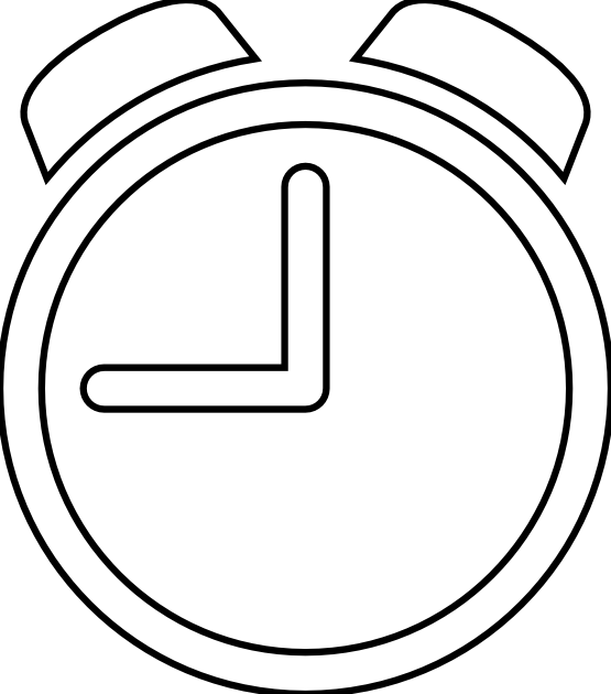 White Clock Clip Art