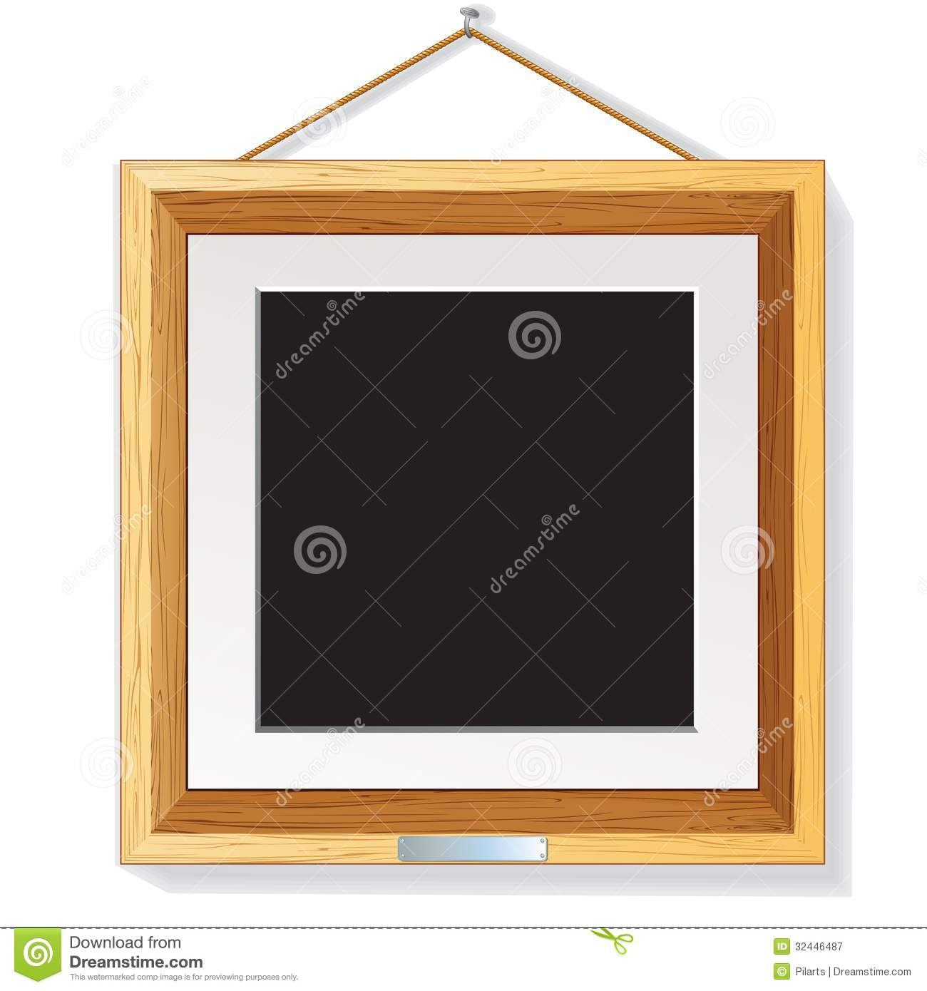 Wood Frame On Wall