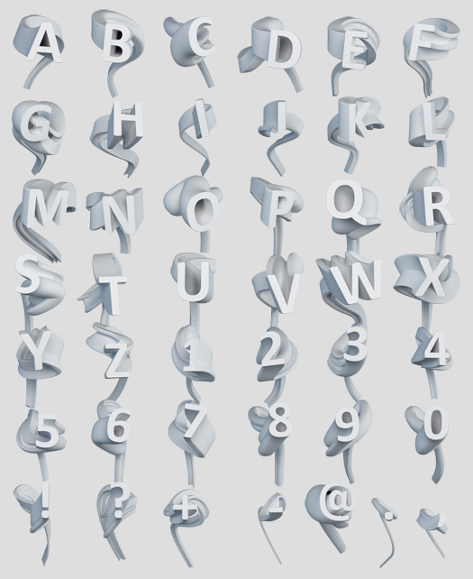 3D Cool Letter Fonts