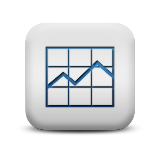Analytics Icon Blue and White