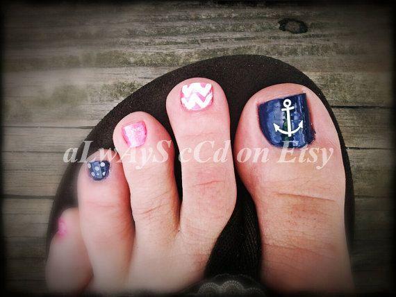 Anchor Toe Nail Designs Choice Image Easy Nail Designs For