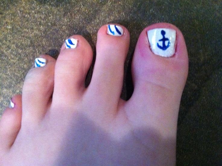 Anchor Toe Nail Designs - 16 Anchor Toenail Designs Images - Anchor Toe Nail Designs, Anchor