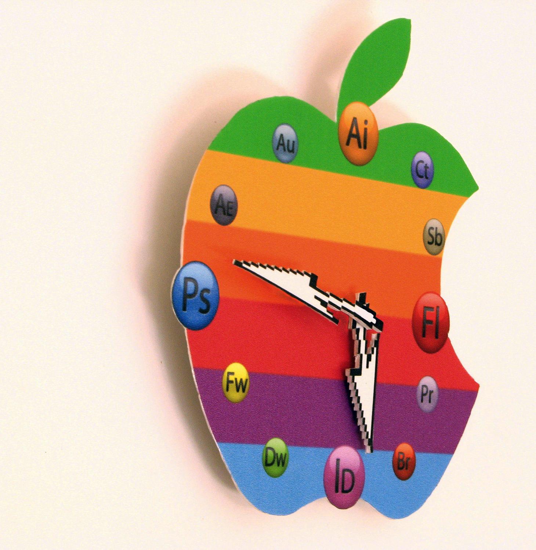 Apple Wall Clock Designs