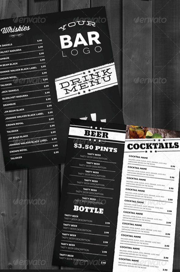 free menu layout
