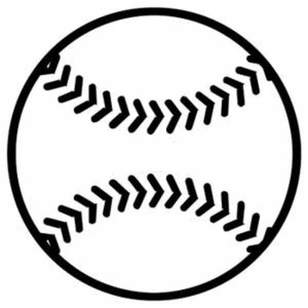Baseball Clip Art Black and White