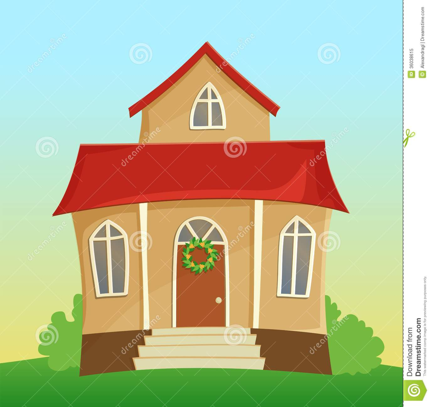 14 cartoon house vector images cartoon house garden