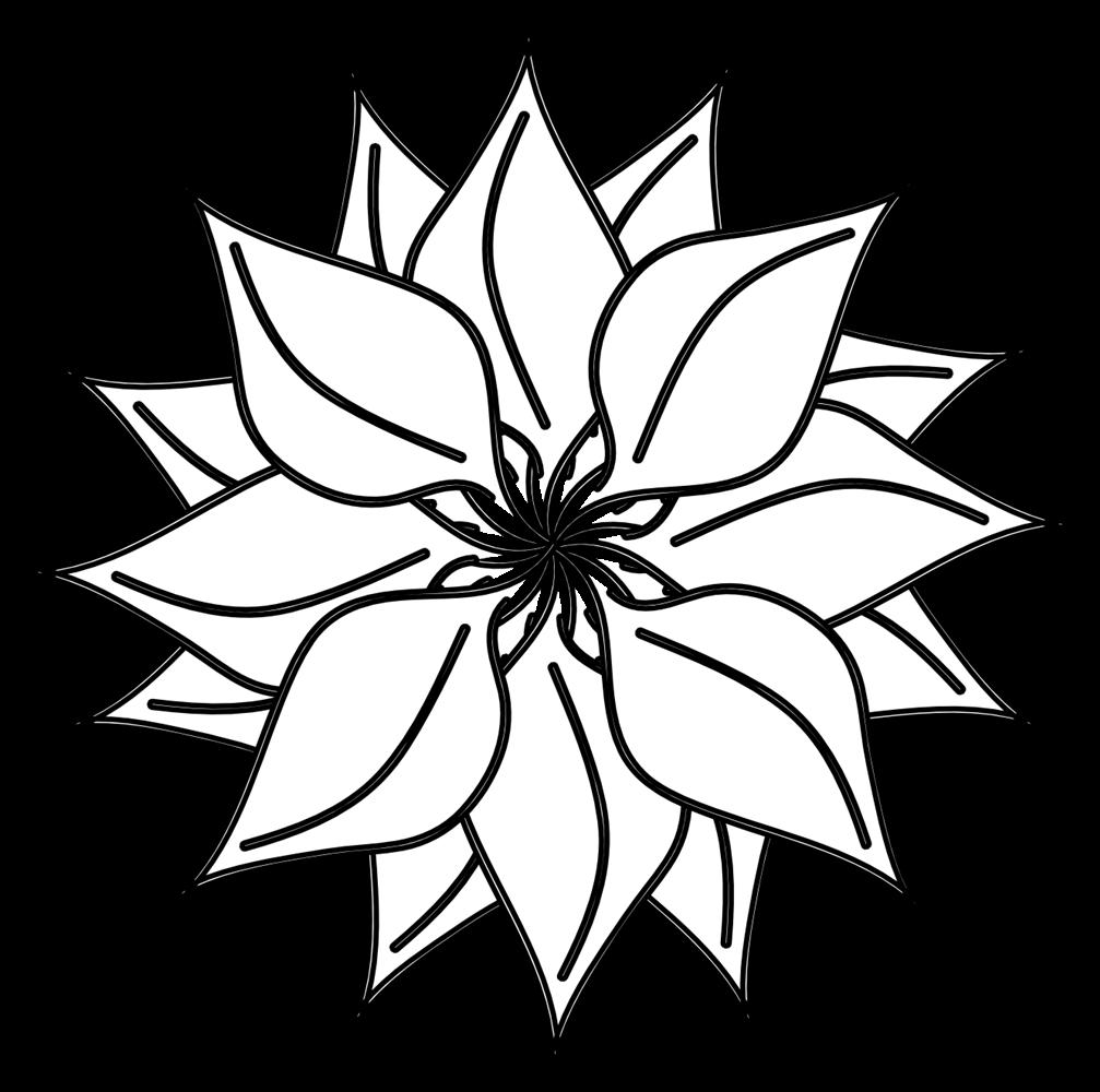 16 black and white flower graphics images black and white flower black and white flower clip art mightylinksfo