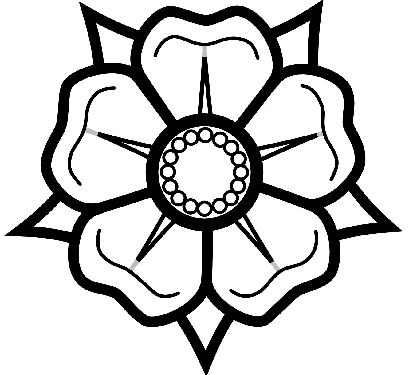 16 Black And White Flower Graphics Images