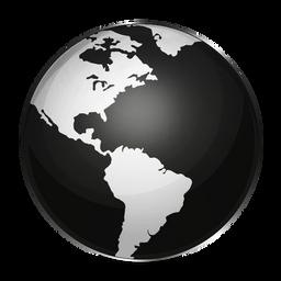 Black and White Globe Icon