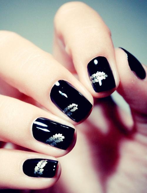 Cute nail design black trendy purple nail art designs easyday view images cute black nail designs prinsesfo Gallery