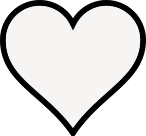 Black Heart Outline Clip Art