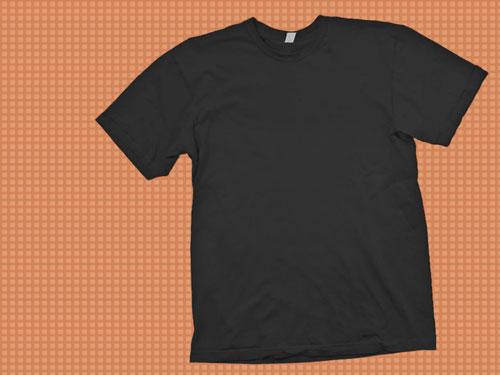 Black T-Shirt Mockup Template PSD