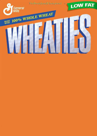 14 Wheaties PSD Box Template Images