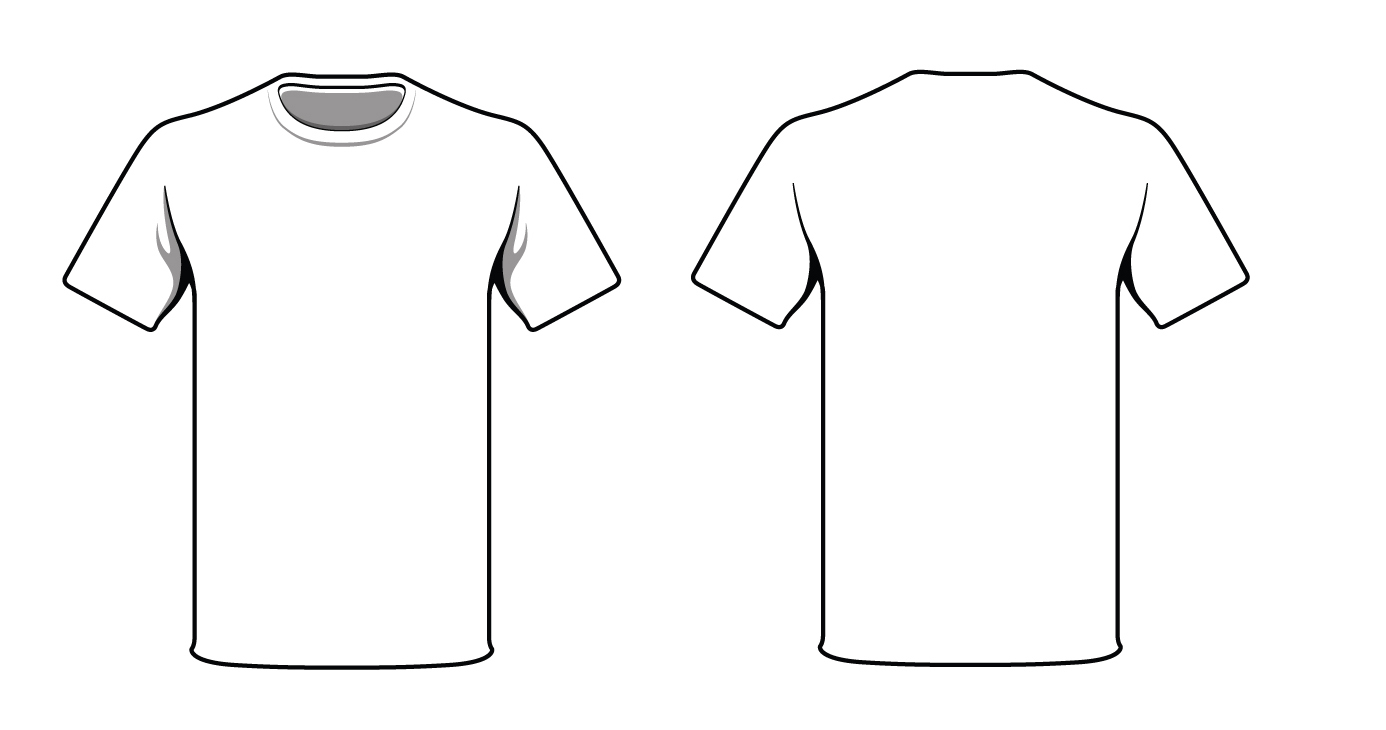 13 White T-Shirt Template Images