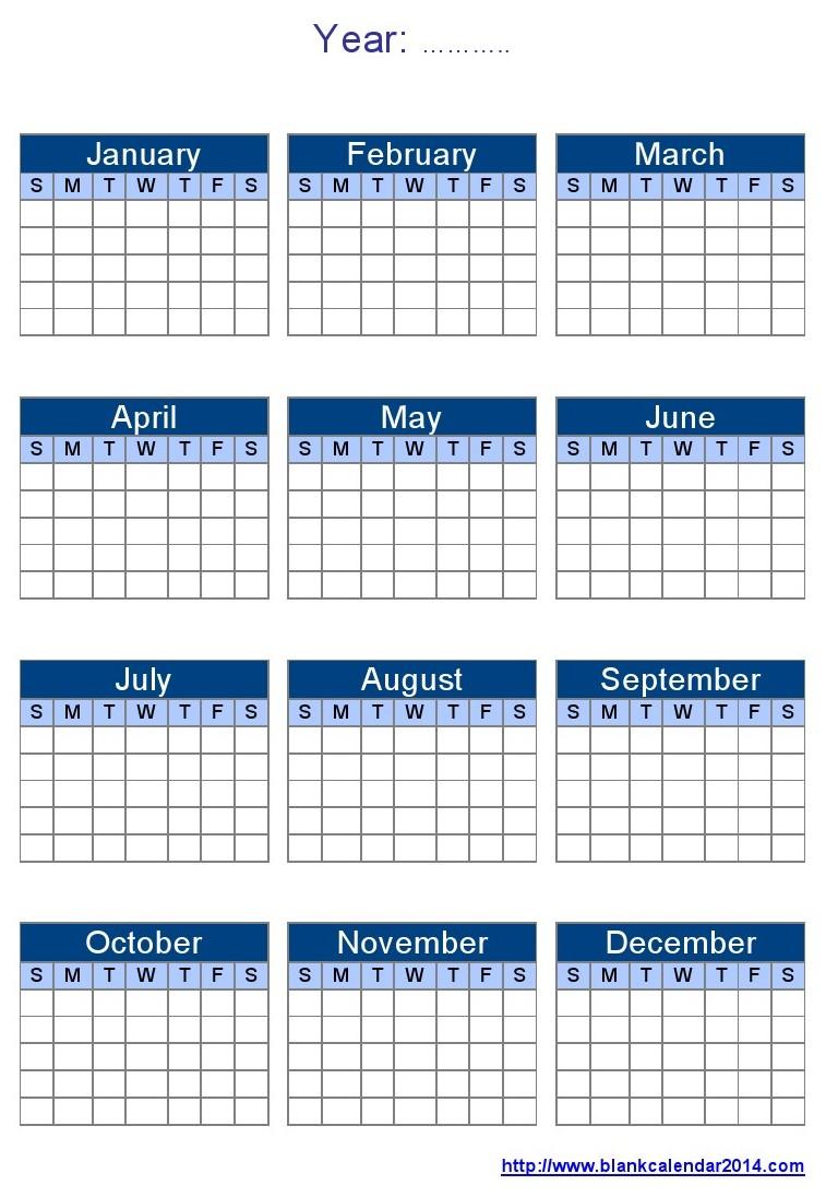 Weekly Calendar Year : Blank calendar template images printable