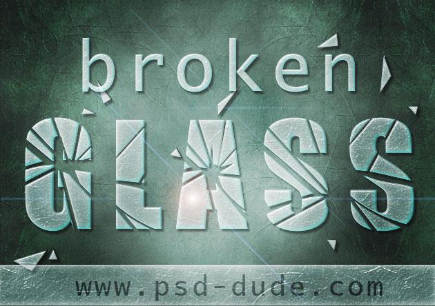 Broken Glass Effect Photoshop