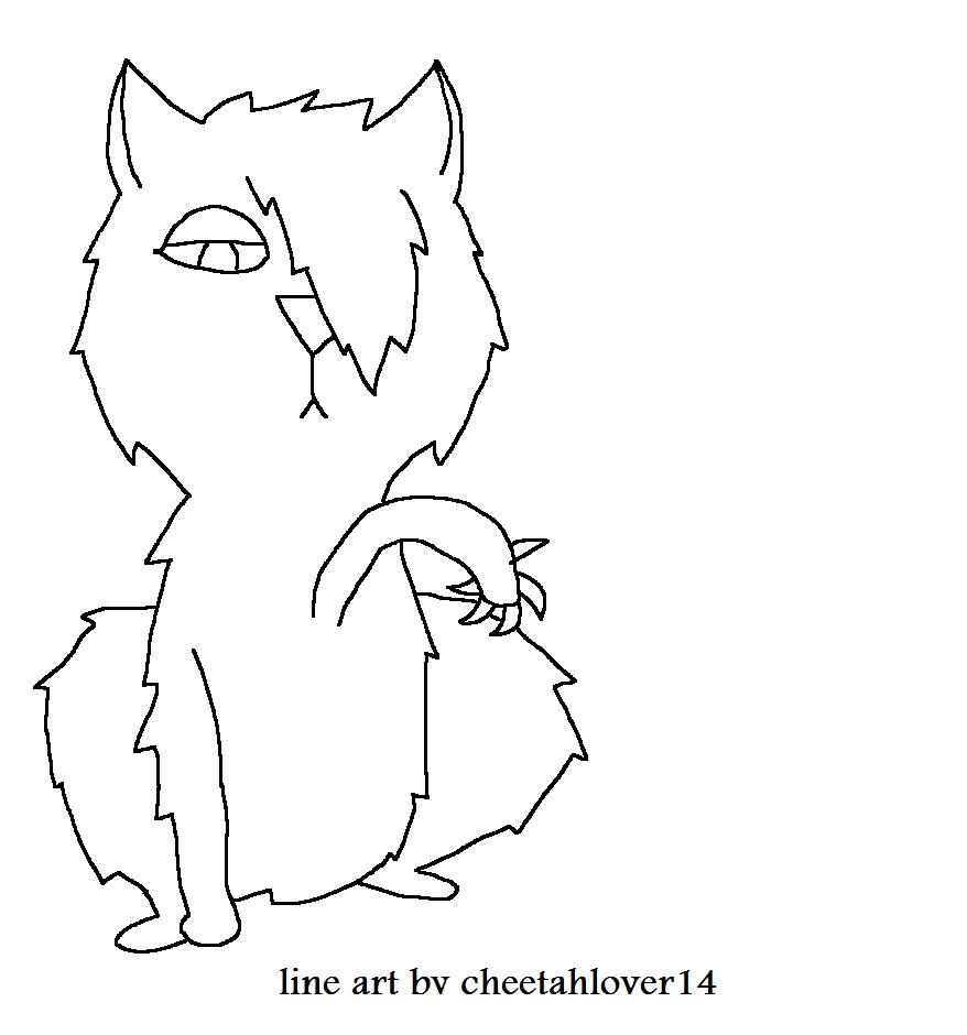 Cat Line Art Drawings