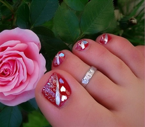 Christmas Toe Nail Art Designs