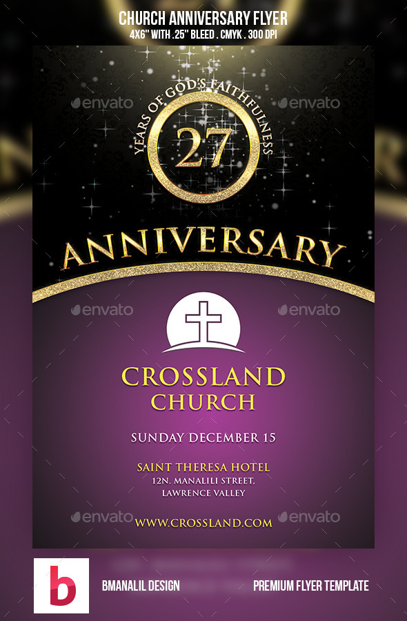 14 Church Anniversary Flyer Templates Free Images
