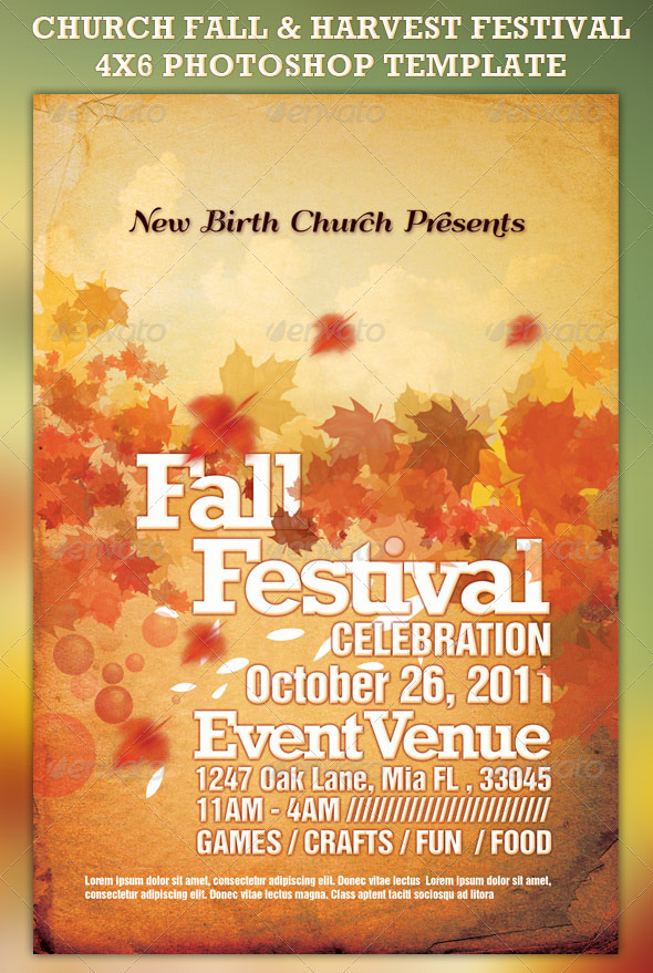 Fall Event Flyer Template from www.newdesignfile.com
