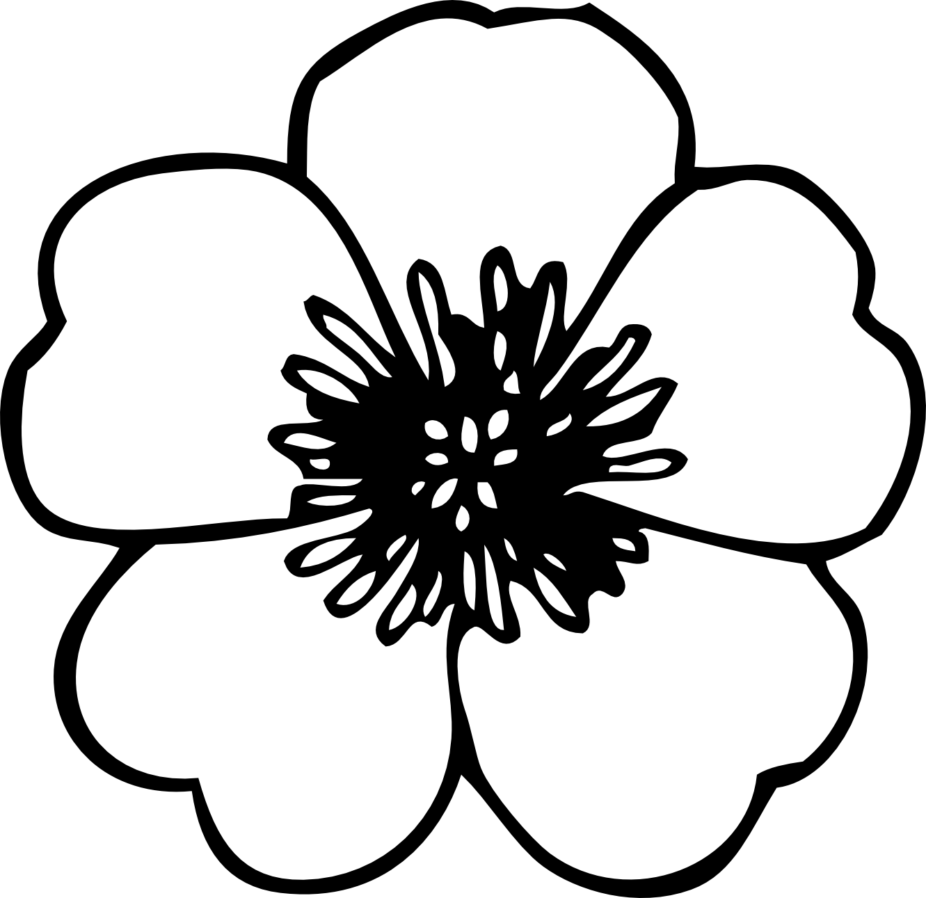 Coloring Black and White Flower Background